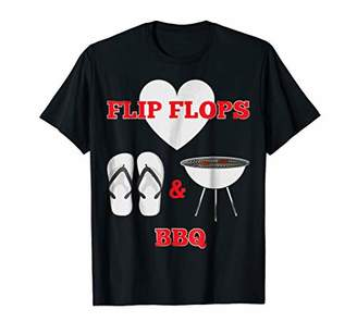 Funny Flip Flops BBQ Love Camping Barbecue Flipflop T-Shirt