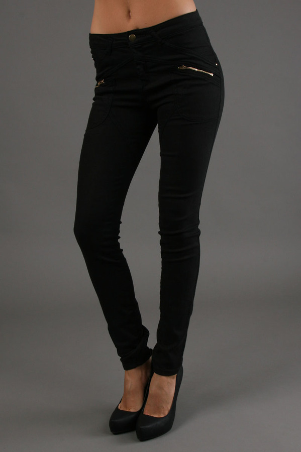 The Battalion 5 Pocket Twill Skinny Pants In Black