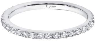 Lafonn Classic Sterling Silver Platinum Plated Lassire Simulated Diamond Ring (0.38 CTTW)