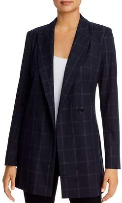 Donna Karan Windowpane Check Blazer