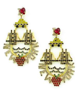 Elizabeth Cole New York Crystal Drop Earrings