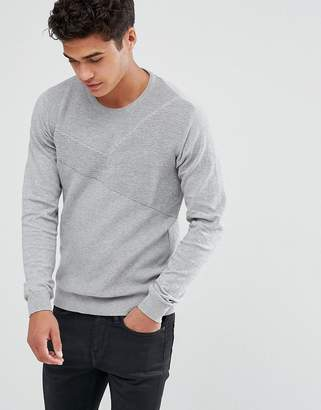 Solid Sweater In Rib Texture