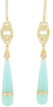 Angélique de Paris Posh Crystal & Resin Drop Earrings