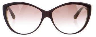 Alexander McQueenAlexander McQueen Oversize Cat-Eye Sunglasses