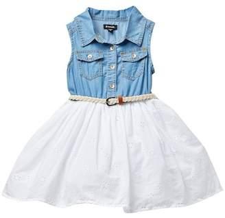 Zunie Denim Tencel Dress (Little Girls)