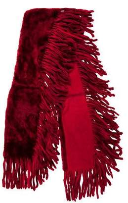 Burberry Shearling Fringe Stole