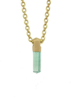 Irene Neuwirth One-Of-A-Kind 4.33 Carat Emerald Crystal Necklace - Yellow Gold