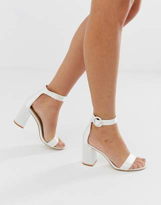 Be Mine Bridal Genna ivory block heeled sandals