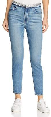 Iro . Jeans IRO.JEANS Jones Sequin-Waist Skinny Jeans in Stone Blue