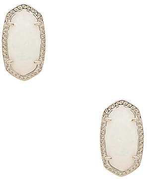 Kendra Scott Ellie Earring in Metallic Silver. $95 thestylecure.com