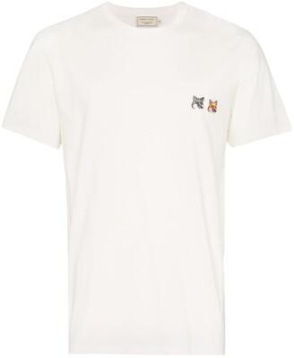 MAISON KITSUNÉ double fox patch T-shirt