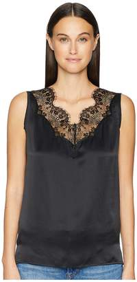 Escada Sport Nanty Lace Inset Sleeveless Top Women's Clothing
