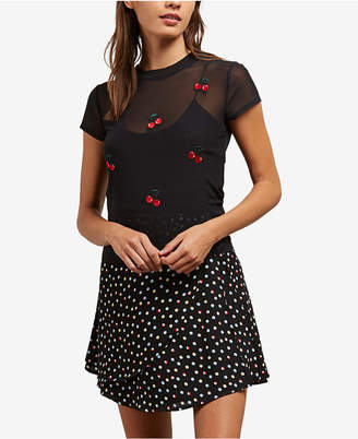 Volcom Juniors' Sheer Embroidered Top