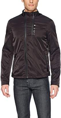 Armani Exchange A|X Men's Moto Neck Front Zip Pu Coating Jacket