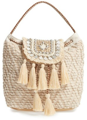Steve Madden Jaxelcoins Backpack - Beige $120 thestylecure.com
