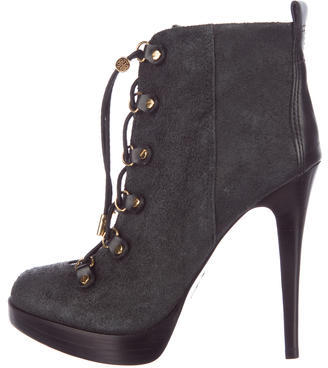 Tory Burch Tory Burch Halima Lace-Up Ankle Boots