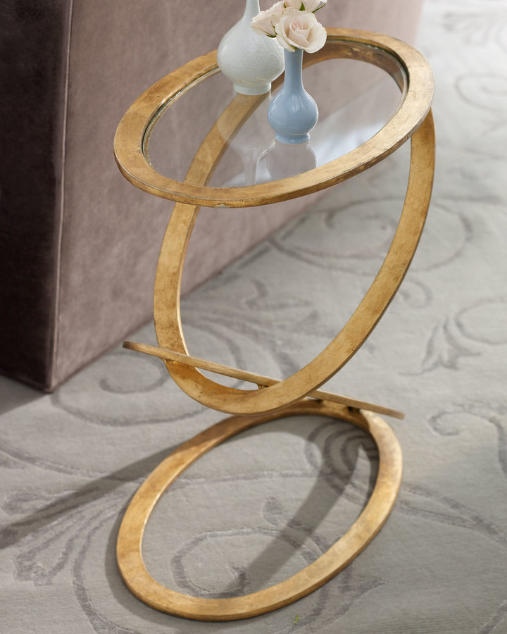 Horchow Gilded Ring Table
