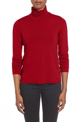 Women's Eileen Fisher Scrunch Neck Top $98 thestylecure.com