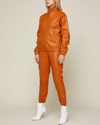 Juicy Couture Leather Zip Jacket