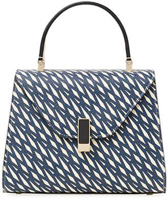 Valextra Monogrammed Mini Top Handle Bag