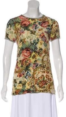 Dolce & Gabbana Printed Short Sleeve Top