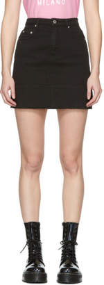 MSGM Black Denim Miniskirt