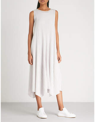 Pleats Please Issey Miyake Handkerchief-hem pleated midi dress