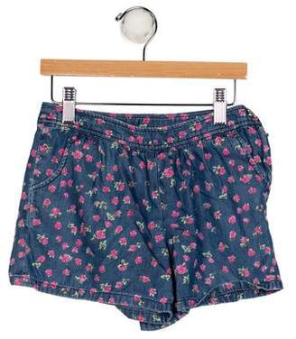Brooks Brothers Girls' Floral Print Shorts