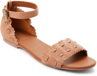 See by Chloe Light Beige Ankle Strap Leather Sandals