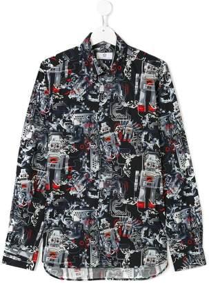Versace robot print shirt