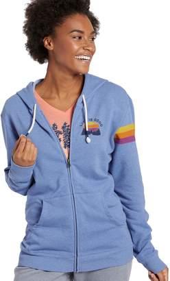 Life is Good Women's Simply True Zip Outdoor Stripe Hoodie