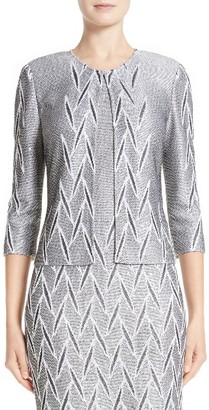 Women's St. John Collection Ebele Knit Jacket $1,195 thestylecure.com