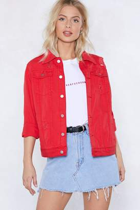 Nasty Gal Pound the Alarm Denim Jacket