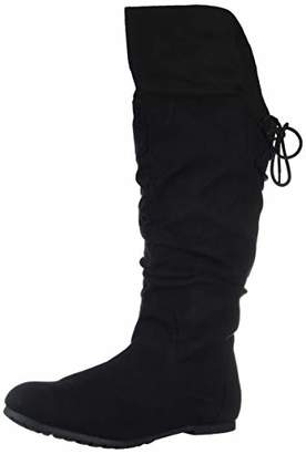 Rampage Women's Bonanza Back Lace-Up Knee-High Boot