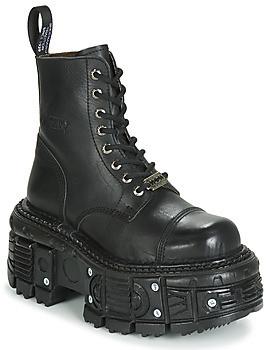 New Rock M-TANK083-C1 women's Mid Boots in Black
