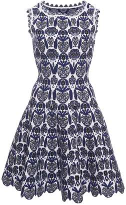 Alaia Azzedine Scallop Floral Dress