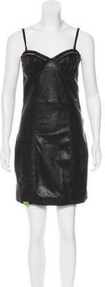 John Galliano Leather Mini Dress