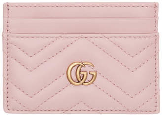 Gucci Pink GG Marmont Card Holder