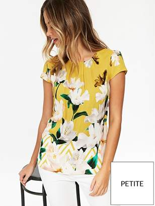 Wallis Zig Zag Floral Top - Ochre
