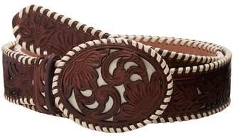 M&F Western Ivory Lace Floral Overlay Belt Women's Belts