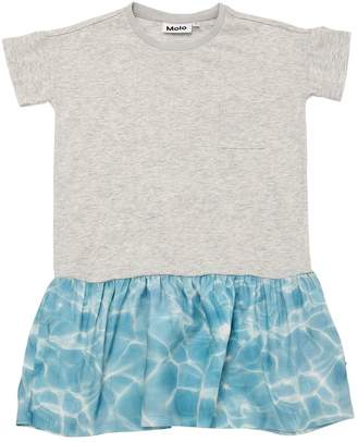 Molo Water Cotton Jersey & Satin Dress