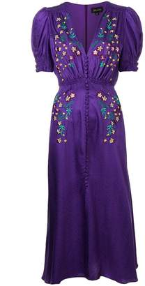 Saloni embroidered midi dress