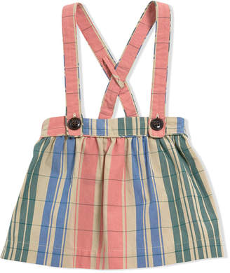 Burberry Check gathered cotton pinafore skirt
