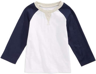 First Impressions Cotton Long-Sleeve Raglan T-Shirt, Baby Boys, Created for Macy's