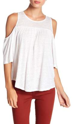 BB Dakota Cold Shoulder Linen Tank Top