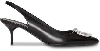 Burberry D-ring slingback pump