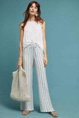 Cloth & Stone Striped Wide-Leg Trousers