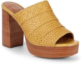 Frye Women's Katie Woven Leather Platform Sandals
