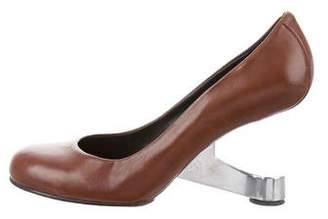 United Nude Round-Toe Sculptural Heels