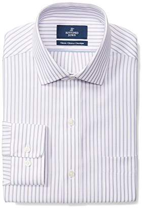 Buttoned Down Men's Classic Fit Spread-Collar Pattern Non-Iron Dress Shirt